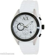 AX Armani Exchange Chronograph White Silicone Men's Watch AX1225
