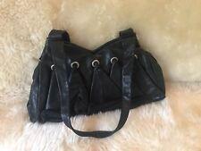 Vintage Renato Angi Black Leather Handbag - Made in Italy