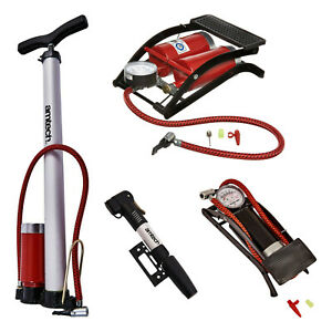 Bicycle Pump Select Type Compact Mini Foot Double Cylinder Stirrup with Gauge