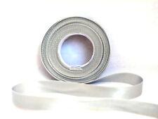15mm X 5m Eleganza Gold Double Sided Satin Ribbon Wedding 5060222453898 Silver