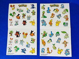 52pc Pokemon Sticker Set 2021 McDonalds 25th Anniversary Promo 2 Sheets Pikachu