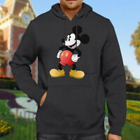 Classic Mickey Mouse Retro Disney Vintage Hooded Sweater Jacket Pullover Hoodie
