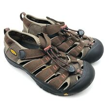 Keen Boys Youth Size 3Y Newport H2 Sandals Hiking H2 Shoes Brown Waterproof