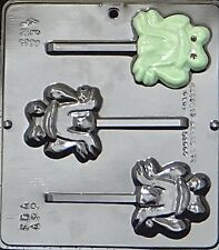 NEW 3 Cavity Toad FROG Frogs Chocolate Candy Fondant Plaster Clay Lolly Mold