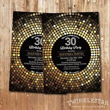30th Birthday Invitation - Personalized - Digital Printable File