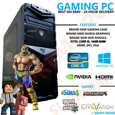 ULTRA FAST Gaming PC Quad Core i5 16GB Windows 10 Desktop Computer Nvidea Gaming