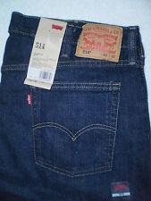 Levis 514 Mid Slim Fit Straight Leg Blue Denim Jeans Mens Size 40 X 32 New $64
