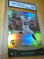 JAVON RINGER TITANS 2009 PRESS PASS SILVER REFLECTOR ROOKIE RC 181/500 GRADED 10