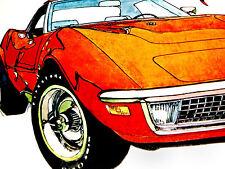 1970 CHEVY CORVETTE ORIGINAL AD *Stingray/C3/door/hood/hinge/seat/steering wheel