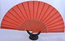 Orange XL  flamenco semi Pericón dance fan guajira eventail fächer abanico Spain