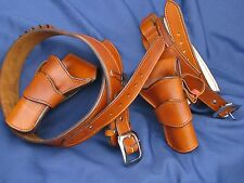 Leather El Dorado Double Rig and Shotgun Belt | SASS SASS Cowboy Western holster