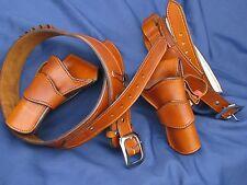 Leather El Dorado Double Rig and Shotgun Belt | SASS Ruger Colt Vaquero