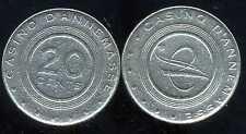 jeton 0,20 centimes  ( CASINO D'ANNEMASSE )    (01)