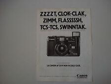 advertising Pubblicità 1982 CANON AF 35 M