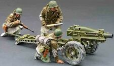 King & Country Battle Of The Bulge Bba009 U.S. Pack Howitzer Set Mib