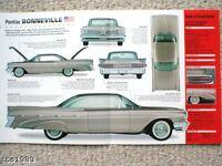 1959 PONTIAC BONNEVILLE SPEC SHEET/Brochure/Catalog