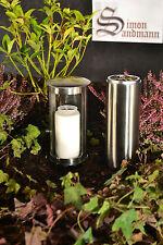 Grablampe   Grablaterne   Grabschmuck   Grabvase im Set aus Edelstahl ->NEU<-