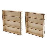 2pcs Wooden Paint Rack Modular Organizer Paint Acrylics Storage Holder Model Box