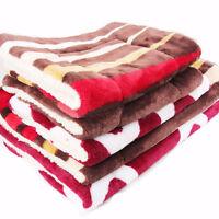 Pet Blanket Soft Fleece Warm Travel Bed Car Basket Mat For Dog Puppy Cat