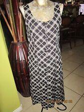 40's-50's Style Button Down Dress>Black&white plaid>LLOYD>??Size M-L ???