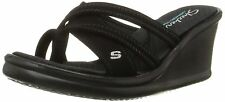 Skechers Cali Women's Rumblers-Young At Heart Wedge Sandal Black 7 B(M) US