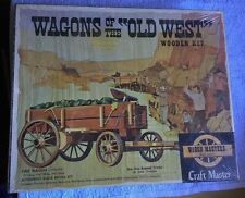Craft Master Wagons of the Old West Ore Wagon Wooden Kit New Sealed Box Scale