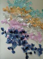 dress sewing sequined lace applique floral sequins lace motif various colours