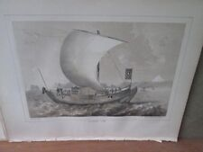 Vintage Print,JAPANESE JUNK 3,Perry Expedition Japan,1856