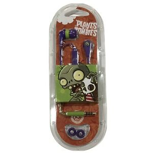 Plants Vs Zombies Ink'd 2 Ear Buds Limited Edition B:1 Skullcandy