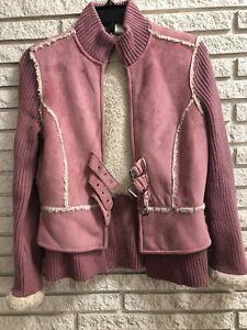 Twiggy London Pink Women Jacket Size Medium M