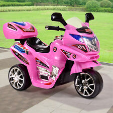 3 Wheel Kids Ride On Motorcycle 6V Battery Powered Electric Toy Power Pink