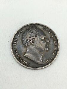 Rare 1837 William IV 4th Silver Half Crown Coin aVF - VF UK Postage Free P&P