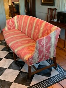 Antique American Federal Hepplewhite 18th Century Sofa