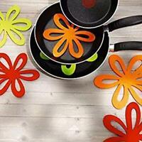 6pcs Ceramic Glass Cookware Divider Felt Dish Pan Pot Scratch Protector Tool W