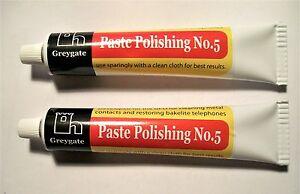 2 TUBES GREGATE POLISHING PASTE No5  BAKELITE-PLASTIC