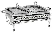 Silver Plated QueenAnne Double Casserole Server with Lid&Warmer  Made in UK Gift