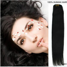 7pcs Real Thick Clip In on Hair Extensions Human Hair  Extentions Full Head Hair