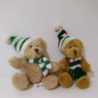 "1988 Chrisha Playful Plush 6"" Teddy Bear Vintage Stocking stuffer Lot Of 2"
