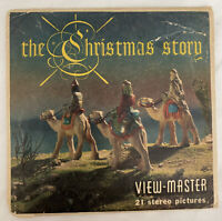 THE CHRISTMAS STORY VINTAGE VIEW-MASTER PACKET B 383 NATIVITY VIEWMASTER 3 REELS