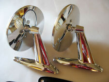 NOS:2-VINTAGE CLASSIC UNIVERSAL CHROME SPORT HOT ROD RATROD SIDE VIEW MIRRORS
