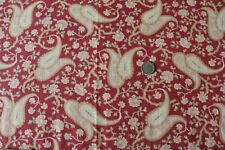 "Antique c1870-1880 American Printed Cotton Paisley Bandana Fabric~L-20"" X W-21"""