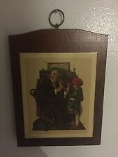 Norman Rockwell 5x7 Doctor with Girl's Doll Wood Wall Plaque