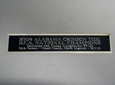 2009 Alabama Crimson Tide BCS Nameplate For A Signed Football Photo 1.25 X 6