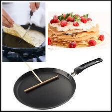 Pancake Crepe Frypan Non Stick Pan Wooden Batter Dispenser Spreader Nonstick Egg