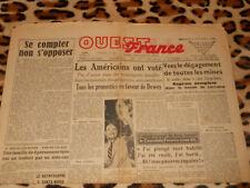 OUEST-FRANCE - Edition Manche-Sud - N° 1263 - Mercredi 3 Novembre 1948
