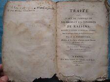 PARMENTIER : TRAITE SUR L'ART DE FABRIQUER LES SIROPS, 1810. Exempl. de l'auteur