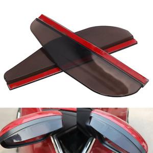 Black Rear View Side Mirror Rain Board Eyebrow Guard Sun Visor Car Left + Right
