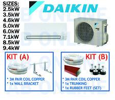 DAIKIN CORA SPLIT SYSTEM INVERTER REVERSE CYCLE AIR CON COPPER BRACKET AIRCON