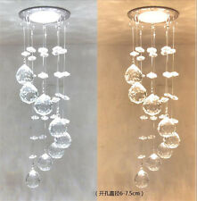 3W Crystal LED Ceiling Light Small Chandelier Ceiling Lamp Pendant Light Hallway
