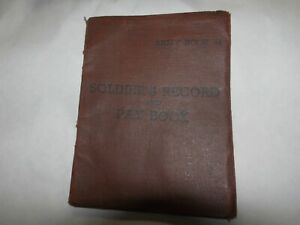 SOLDIERS RECORD AND PAY BOOK 1952-56